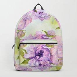 Pink & Purple Peonies Backpack