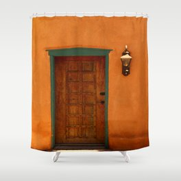 A Santa Fe  Door Shower Curtain