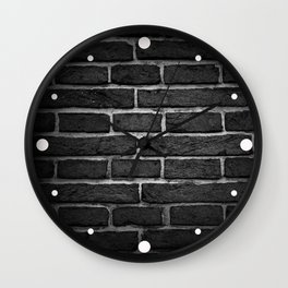 Black & Gray Brick Wall Wall Clock