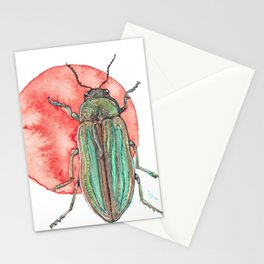 Iridescent Beetle Stationery Cards
