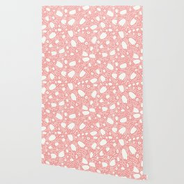 Floral Reverie in Coral Wallpaper