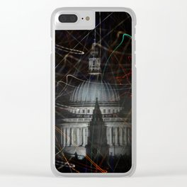 St Paul's Cathedral behind colours Clear iPhone Case