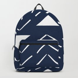 Mud Cloth Vector in Navy Backpack