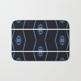 blue brain Bath Mat