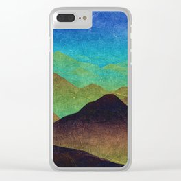 Through hilly lands and hollow lands Clear iPhone Case