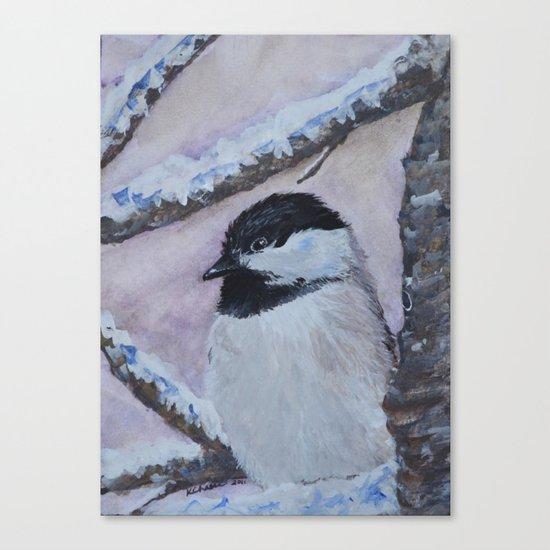 Maine Chickadee Canvas Print
