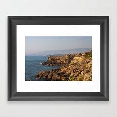 The sea coast Framed Art Print