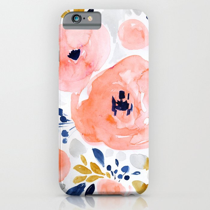 genevieve floral iphone case