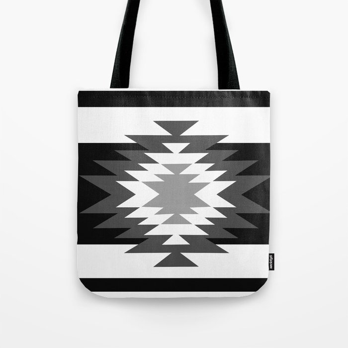 Aztec - black and white Tote Bag