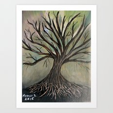 Bare tree-2 Art Print