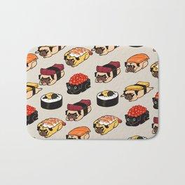 Sushi Pug Bath Mat