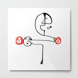 Man Pointing to Heads Metal Print