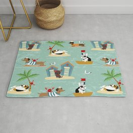The Ultimate Dog Vacation pattern Rug