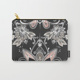 White Paisley Carry-All Pouch