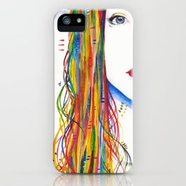 Rainbows and Black birds iPhone Case