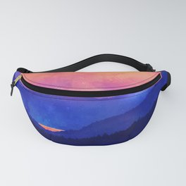 Cobalt Mountains Fanny Pack