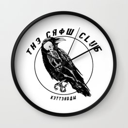 the crow club Wall Clock