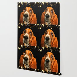 A Basset Hound. (Painting.) Wallpaper