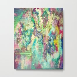 Watercolor Explosion Painting Metal Print