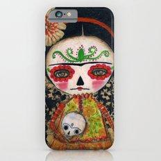 Frida The Catrina And The Skull - Dia De Los Muertos Mixed Media Art iPhone 6s Slim Case