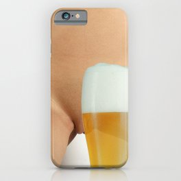 Beer and Naked Woman iPhone Case