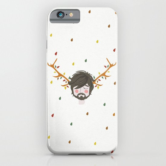 The Man With The Antlers iPhone & iPod Case