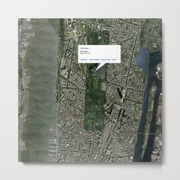 What if Manhattan Was Designed Like Paris? Metal Print