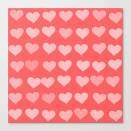 Cute Hearts Canvas Print