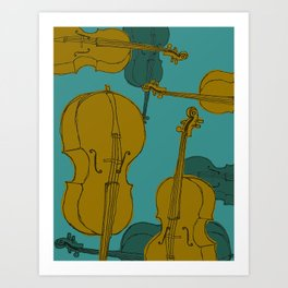 Cellos Graphic Art Print