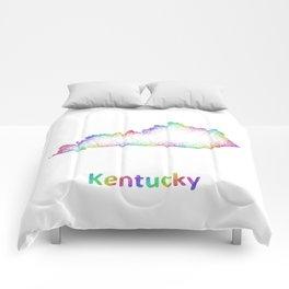 Rainbow Kentucky map Comforters