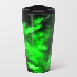 Envy - Abstract In Black And Neon Green Travel Mug