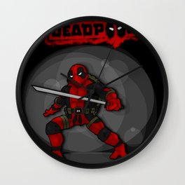 Teenage Mutant Ninja Deadpool Wall Clock