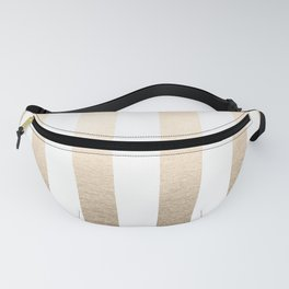 Simply Vertical Stripes in White Gold Sands Fanny Pack