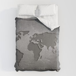 World Map Metal engraved Comforters