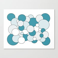 Bubbles - blue, gray and white. Canvas Print