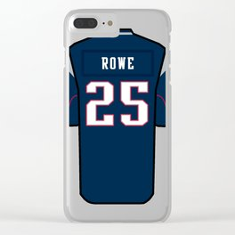Eric Rowe Jersey Clear iPhone Case