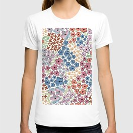 479-Watercolor pastel cute ditsy floral pattern T-shirt