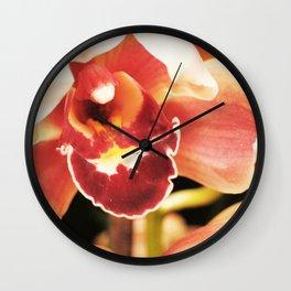 Flaming Orchid Wall Clock