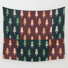 Xmas Tree Asymmetric Pattern Wall Tapestry