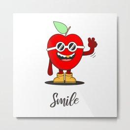 Happy Rapper Apple Metal Print