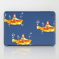 yellow submarine iPad Cases featuring Fabric Yellow Submarine by AnnaCas