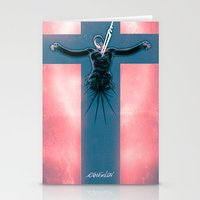 evangelion Stationery Cards featuring Lilth from Evangelion by Barrett Biggers