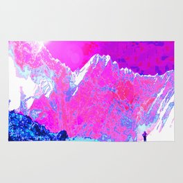 Alpenglow in Violet Rug