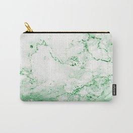 Vintage Green Marble Carry-All Pouch