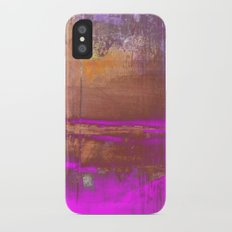 Pink Color Patches Slim Case iPhone X