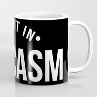 sarcasm Mugs featuring Fluent in Sarcasm  by octopusiscool