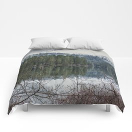 Fish Lake on a Spring Evening Comforters