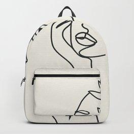 Abstract Minimal Woman I Backpack