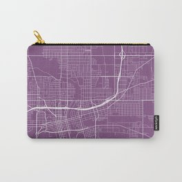 Des Moines Map, USA - Purple Carry-All Pouch