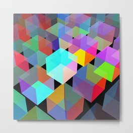 Neon light boxes Metal Print
